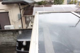 車庫屋根ポリカ板修理7