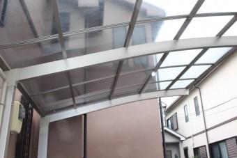 車庫屋根ポリカ板修理8