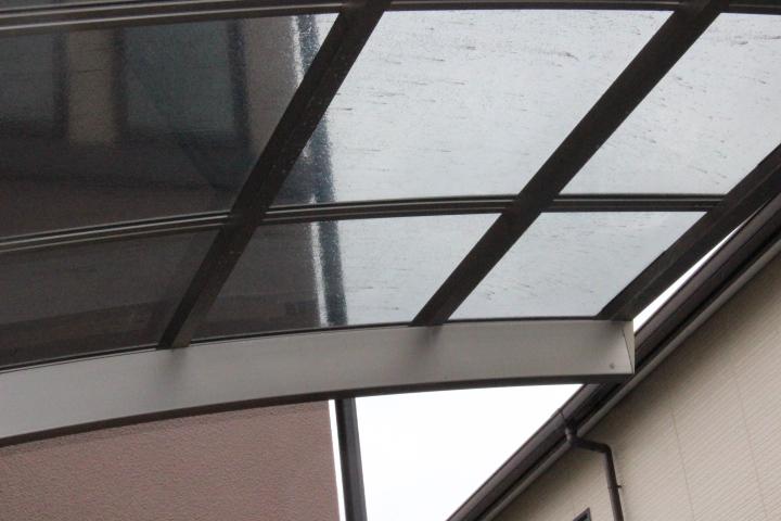 車庫屋根ポリカ板修理6