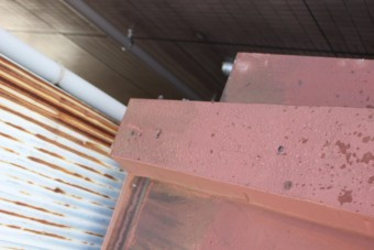 川西市屋根笠木修理2