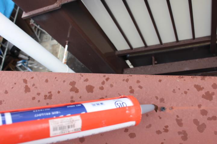 川西市屋根笠木修理4