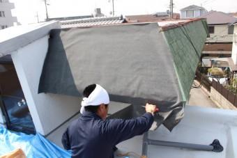 伊丹市雨漏り修理中4