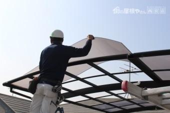車庫の屋根修理2