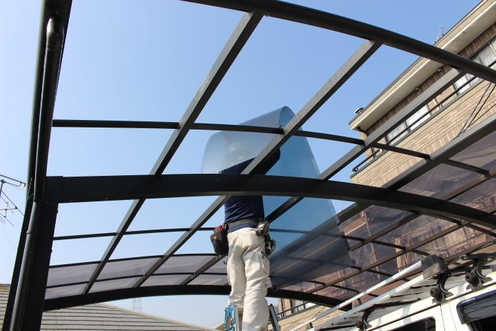 車庫の屋根修理4