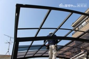 車庫の屋根修理5