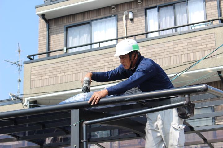 車庫の屋根修理7