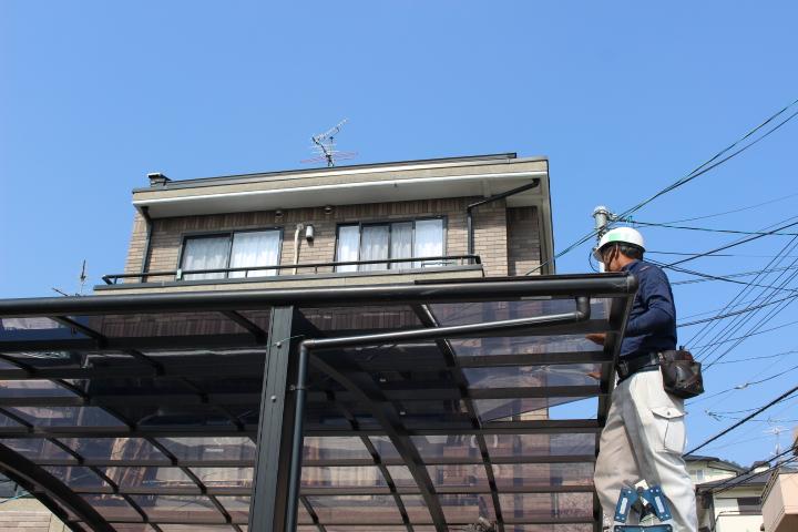 車庫の屋根修理6