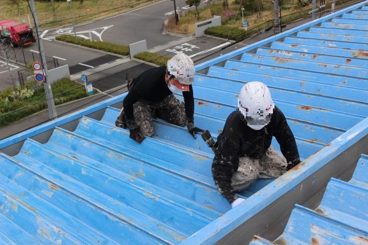 工場屋根塗装工事7