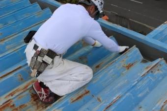 工場屋根塗装工事3