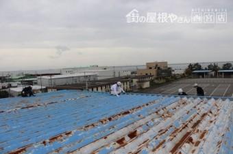 工場屋根塗装工事2