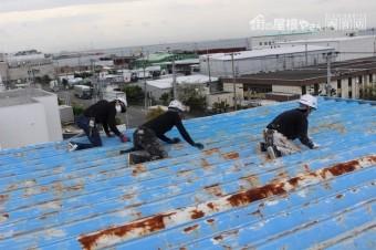 工場屋根塗装工事1