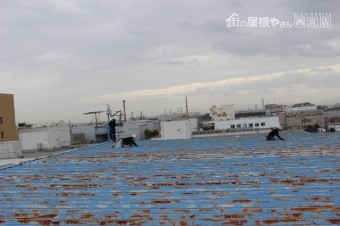 工場屋根塗装工事8