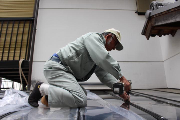 テラス屋根修理16