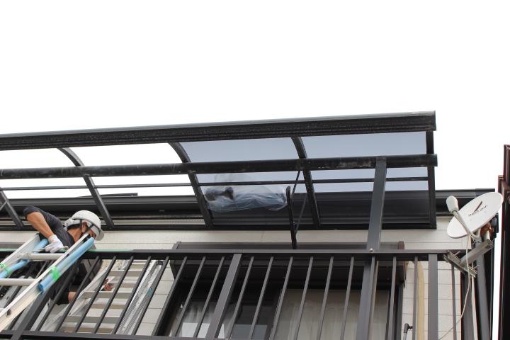 テラス屋根修理14