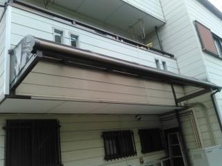 アルミひさし屋根修理後