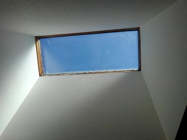 天窓ガラス交換現場調査2