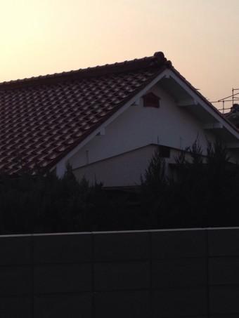 瓦屋根 葺き替え 茶色瓦