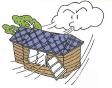 屋根にズレ