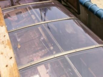 カーポート屋根の掃除