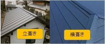 立葺き横葺き屋根