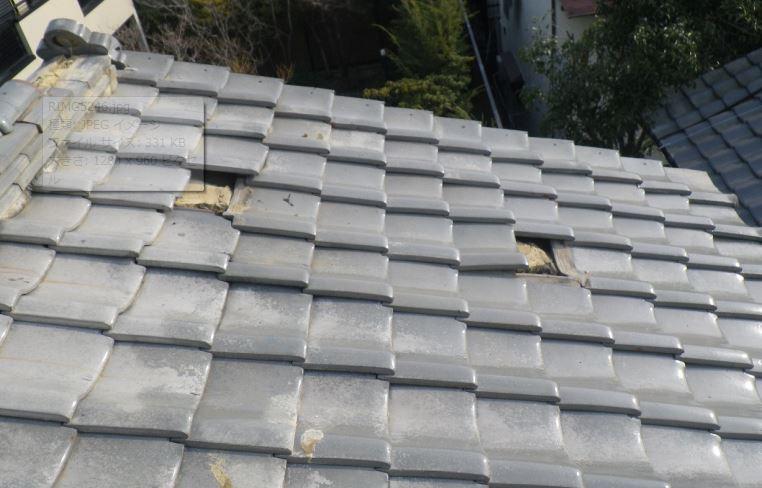 屋根の被害
