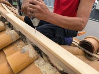 西宮市木造二階建て住宅木材固定