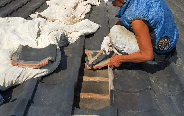 西宮市築25年平屋の瓦屋根補修工事