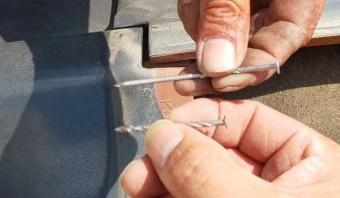 西宮市瓦屋根工事に使う釘の長さ
