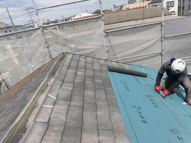 屋根カバー工事3