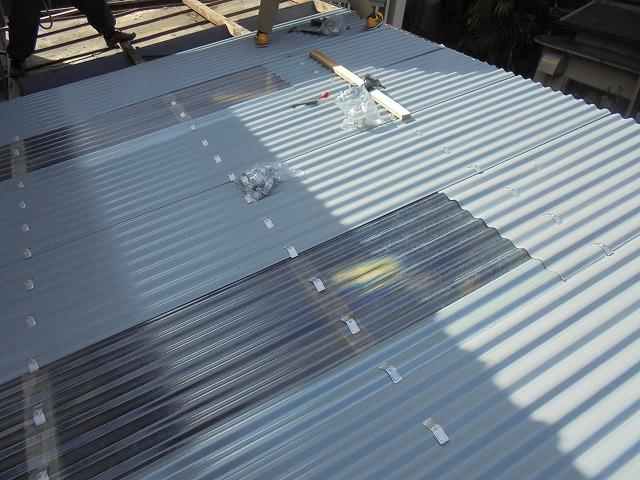 ガレージ屋根修理10