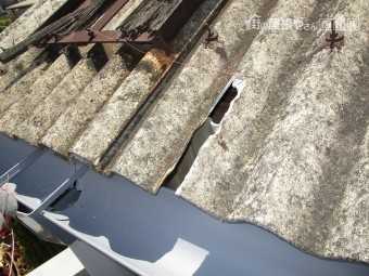 工場屋根雨漏り修理1