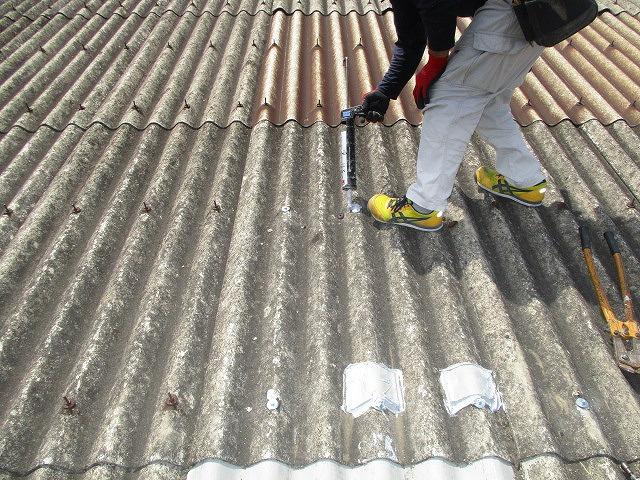 工場屋根雨漏り修理5