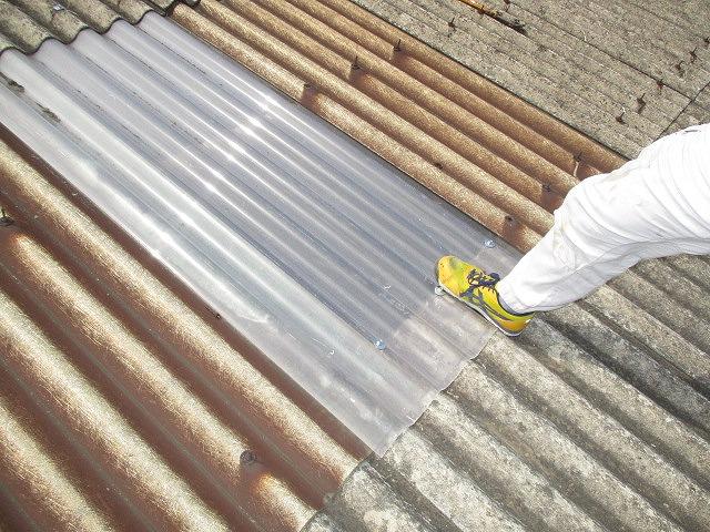 工場屋根雨漏り修理3